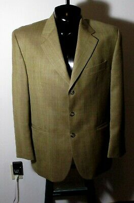 Men's LAUREN Ralph Lauren Tan Silk Wool Blazer Suit Jacket Size 42R