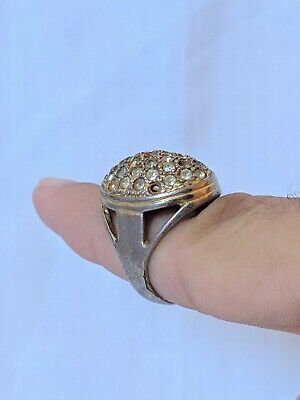 Ancient Egyptian Ring Metal Artifact Old With Stuning Stones Extremely Rare