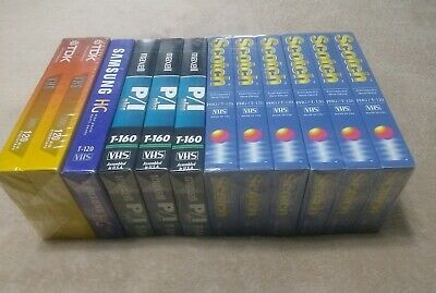Lot Of 12 Blank VHS Tapes (New Sealed) T-160 & T-120