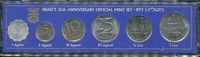 Israel, 1973 Uncirculated Mint set of 6 coins