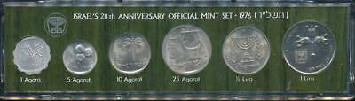 Israel, 1976 Uncirculated Mint set of 6 coins