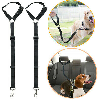 Dog Pet Car Safety Seat Belt Harness Restraint Adjustable Lead Travel Uk