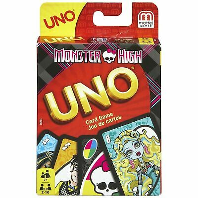 Monster High Uno Card Game - BRAND NEW WITH INSTRUCTIONS - 2-10 PLAYERS