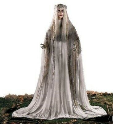 Halloween Props Decorations Life Size Animated Scary Ghost Bride Outdoor Yard