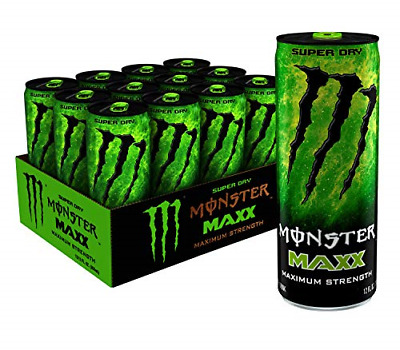 MAXX Monster Super Dry, Maximum Strength, Energy Drink, 12 ounce Pack of 12