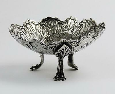 OTTOMAN TURKISH SILVER Antique FOOTED BOWL c1880 TUGHRA HALLMARK