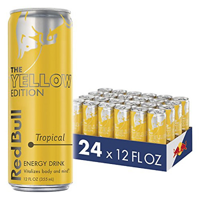 Red Bull Energy Drink, Tropical, Yellow Edition, 12 Fl Oz 24 Count