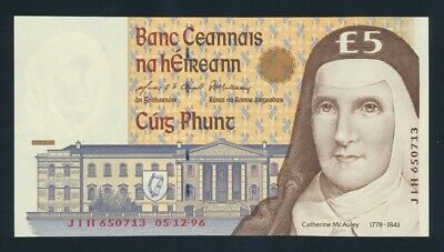 Ireland: 5-12-1996 LAST IRISH £5 Sig O'Conaill-Mullarkey. Pick 75b UNC Cat $53+