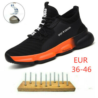 Mens Safety Shoes Trainers Steel Toe Work Boots Sports Hiking Shoes Sneakers2019