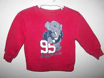 Garanimals boys Red  Warm SweatShirt size 18 Months 95 JUGGERNAUTS ELEPHANT 18 m