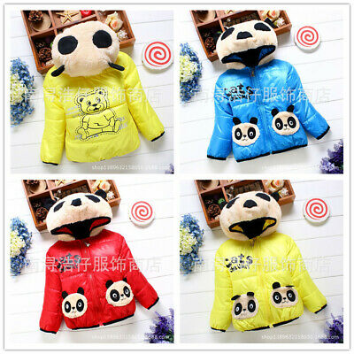 Toddler Baby Boys Girl Warm Winter  Hooded Coat Cotton padded Jacket Outerwear