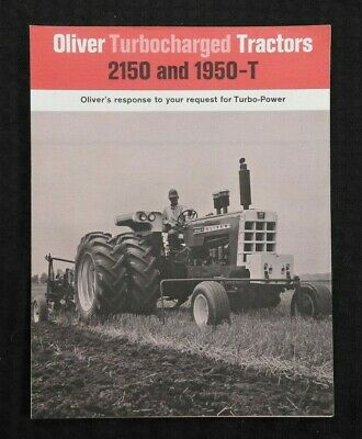 """1968 """"New Oliver 2150 & 1950T Turbocharged Tractor"""" Catalog Brochure Very Nice"""