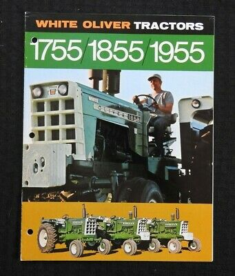 """1970 """"White Oliver 1755 1855 1955 Tractor"""" Catalog Brochure Very Nice Shape"""