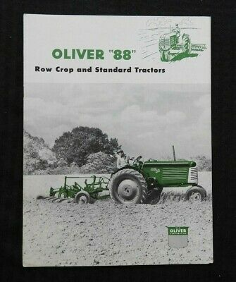 """1952 """"The Oliver Standard & Row-Crop 88 Tractor"""" Sales Brochure Very Nice Shape"""