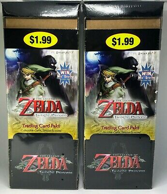 Zelda Twilight Princess Trading Cards - (2) 48-pack Boxes - Factory Sealed