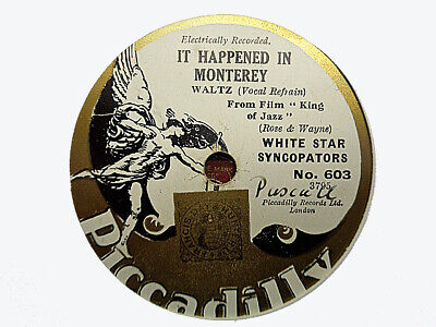 WHITE STAR SYNCOPATORS - It Happened In Monterey / Should I? 78 rpm disc
