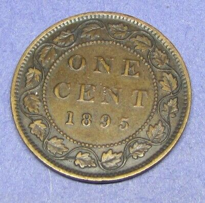 1895 Canada One Cent- Vf - Bw-580