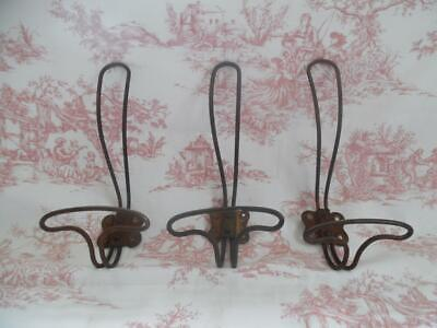 3 Antique French  Porte Manteau Coat & Hat Hooks