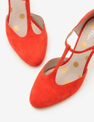 Boden Ladies Gorgeous Whitney Mid Heels Soft Suede Warm Orange A0220 Brand New