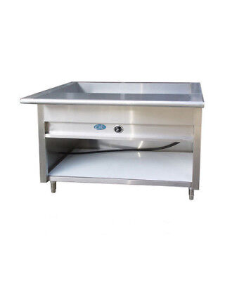 """36"""" Electric Steam Table Stainless Steel 2 Pans 208V Single Phase NSF"""