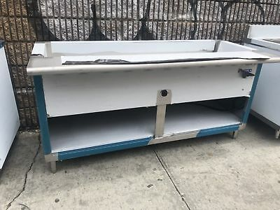 """72"""" 6ft Stainless Steel Electric Steam Table 5 Pans Single Element 208V 1PH NSF"""