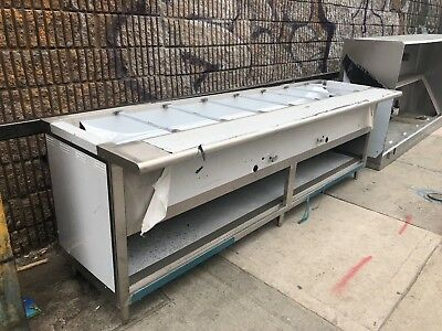 10ft Stainless Steel Steam Table 9 Wells Nat Gas 2 Burners 40,000 BTU - NSF