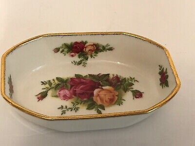Royal Albert Bone China Soap Candy  Dish Old Country Rose