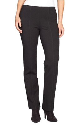 Gloria Vanderbilt Women's Jolie Stretch Ponte Pants  Black 22W Average