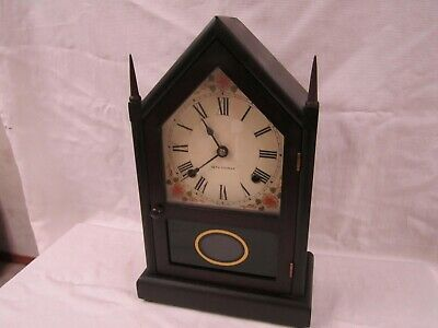 Antique Seth Thomas 8 Day Chiming Steeple Cathedral Mantle Clock Runs Well