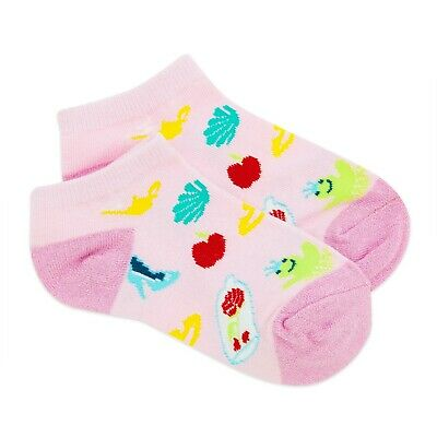 Disney Store Princess Ankle Socks Set 2 Pairs Kids Girls Size M L NWT
