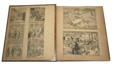 Vintage Scrapbook Newspaper Cartoons Comics The Good Old Days Antique F47