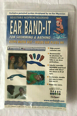 Ear Band-It Protection For Swimming & Bathing Keeps Water Out Medium (4-9 years)