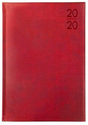 Debden - Silhouette - A4 - Day to a Page - Red - Diary 2020