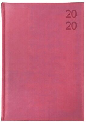 Debden - Silhouette - A4 - Day to a Page - Pink - Diary 2020