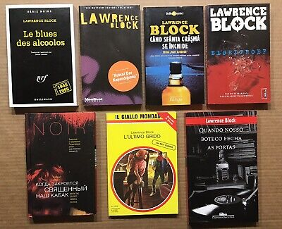 Lawrence Block Signed ~ When the Sacred Ginmill Closes ~ 7 Foreign Editions