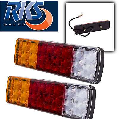 2X Led Combination Rear Tail Stop Indicator Reverse Light Lamp Ute Tray Trailer