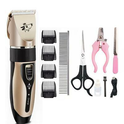Pet Cordless Hair Hairdressing Trimmer Clipper Shaver Set Electric Rechargeable