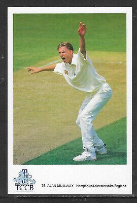 ALAN MULLALLY/ HAMPSHIRE-LEICESTERSHIRE-ENGLAND TCCB CRICKET POSTCARD No.75