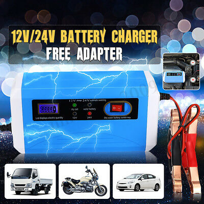 12/24V Smart Car Battery Charger Maintainer Motorcycle Car Truck Jump  New