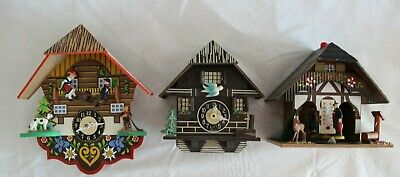 Lot Of 2 Cuckoo Clocks Mini J. Engstler One Weather Station Made In Germany