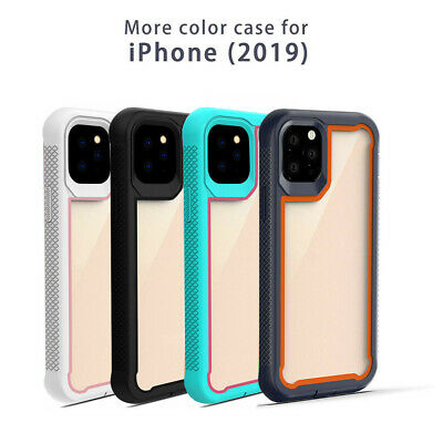 For iPhone 11 Pro Max 2019 Case Hybrid Heavy Duty Shockproof Clear Back Cover sd