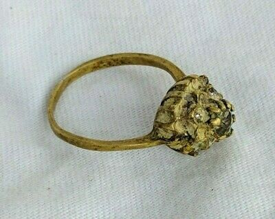 Ancient Antique Roman Ring Bronze Very Old Lieognary Stuning Extremely Rare