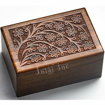 Decorative Urns Handmade Tree Of Life Rosewood For Human Ashes Adult - Large The