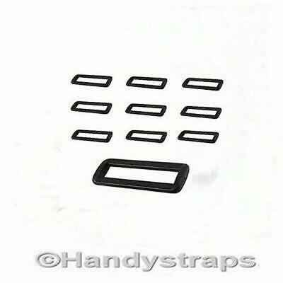 2 bar Loop Buckles 10  x 50mm Plastic Black Handy Straps