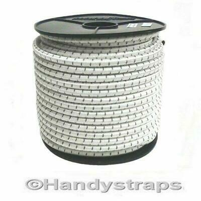 Bungee Rope 5 Metre x 12mm Shock Cord Elastic White with Black fleck Handy Strap