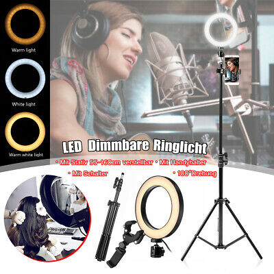LED Ring Light 6.3'' Selfie Lamp Make up for Youtube Phone Clamp Tripod Stand