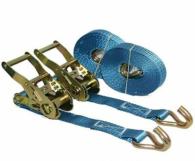 Ratchet Cargo Tie down Straps 2 x 5m x 25mm  1.5 tons Claw Lorry Lashing