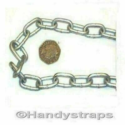 Anchor Mooring Chain 4 mm x 25mm Galvanised Lifting Boat Yacht Handy Straps