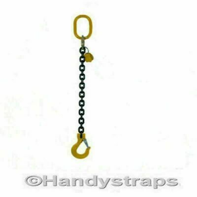 Lifting Chain Sling 1m x 1 Leg x 7mm  1.5ton  without Shortner Handy Straps