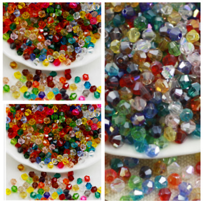 wholesale 150pcs 4mm bicone crystal glass loose spacer Beads
